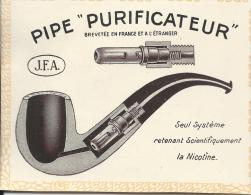 """Pipe """"Purificateur""""/Brevetée En France Et à L'étranger /J.F.A./ 1913              ILL8 - Documents"""