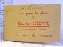 (49) Maine Et Loire  ANGERS - Pub Photo Gaston Lecompte 59 Rue Plantagenet - Mr Bellier Photos Négatifs Course Vélos - Advertising
