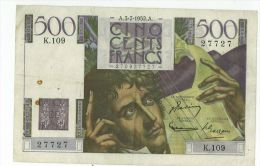 500 Francs Chateaubriand, Ref Fayette 34-9, état TTB - 1871-1952 Circulated During XXth