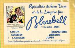 BUVARD :Bonneterie Lingerie BLUEBELL Amiens  Imagerie Epinal  Ou Est Caché Mossie - Textile & Clothing