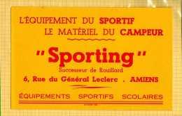 BUVARD :Equipement Sportif  SPORTING  Amiens - Sports