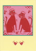 CPM CHAT COUPLE COEUR AMOUR  ILLUSTRATION APPIANET JEAN CHRISTIAN KNAFF - Cats