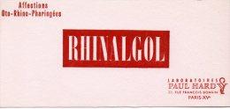 - BUVARD RHINALGOL - 106 - Produits Pharmaceutiques