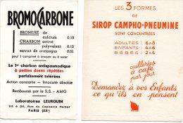- 2 Petits BUVARDS - 107 - Drogerie & Apotheke