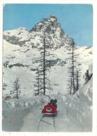 Breuil-Cervinia (Italie, Val D´Aosta) :  La Piste De Bob Avec Bobsleigh En 1980 (animé). - Italia