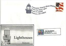 ETATS-UNIS. Phare De EASTON,Chesapeake Bay  , Maryland.    Enveloppe Souvenir. - Phares