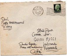 1941  LETTERA CON ANNULLO SIENA - Storia Postale