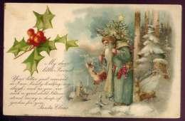 SANTA ~~ Green Robe ~~ My Dear Little Friend ~~ Postcards N193 - Santa Claus