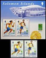 Solomon Islands - 2000 Olympic Games + S/S MNH Neuf ** FIELD & TRACK, SPORTS, ARCHITECTURE, STADIUM - Summer 2000: Sydney