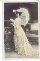 Rejane, Artiste 1900,avec Ombrelle, Colorisée Photo Reutlinger - Artisti