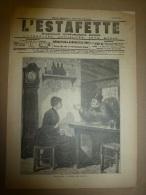 1899  L´ESTAFETTE :Par-ci, Par-là ; Aux Eaux De Saint-Léon ; DANEMARK (Jutland,Elseneur,iles Feroé ) Le SAVOIR-VIVRE - 1850 - 1899