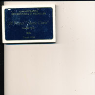 100 FRANCS MARIE CURIE 1984 COFFRET ADMINISTRATION DES MONNAIE - Commémoratives