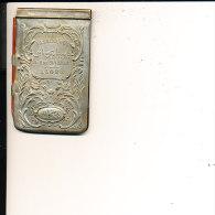 ALGERIE FASSINA 1 RUE SAVIGNAC PETIT CARNET PUBLICITAIRE EN METAL ARGENTE (11 CM X 6.2CM 69 GRAMMES - Publicité