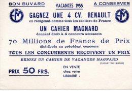 - Petit BUVARD Cahier De Vacances MAGNARD - Pli à Droite - 114 - Stationeries (flat Articles)