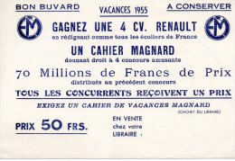 - Petit BUVARD Cahier De Vacances MAGNARD - Pli à Droite - 114 - Cartoleria