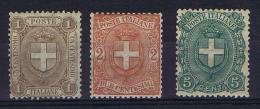 Italy: 1896 Sa 65 -67 , MH/*