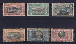 Italy: 1923  Sa 151 - 156, Mi 188-193, Cancelled. - 1900-44 Victor Emmanuel III.