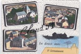 Saint GERMAINMONT (08)Le Bout De La Ville,La Place Et Les Ecoles - Sin Clasificación