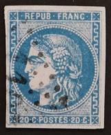 YT 46A Oblitéré GC , Départ 0.01€ SANS PRIX DE RESERVE, 4 Marges , Sans Amainci , Cote 80 € - 1870 Uitgave Van Bordeaux