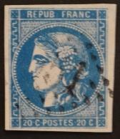 YT 46B Oblitéré GC , Départ 0.01€ SANS PRIX DE RESERVE, 4 Marges , Sans Amainci , Cote 25 € - 1870 Uitgave Van Bordeaux