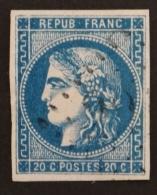 YT 46Ba Oblitéré GC , Départ 0.01€ SANS PRIX DE RESERVE, 4  Marges , Sans Amainci , Cote 70 € - 1870 Uitgave Van Bordeaux
