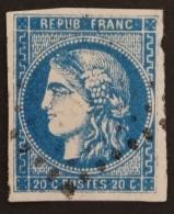 YT 46Ba Oblitéré GC , Départ 0.01€ SANS PRIX DE RESERVE, 4  Grandes Marges , Sans Amainci , Cote 70 € - 1870 Uitgave Van Bordeaux