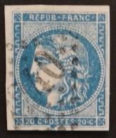 YT 45C Oblitéré GC 2240 , Départ 0.01€ SANS PRIX DE RESERVE, 4 Marges, Sans Amainci , Cote 70 € - 1870 Uitgave Van Bordeaux