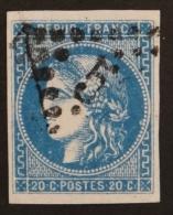 YT 46B Oblitéré GC , Départ 0.01€ SANS PRIX DE RESERVE, 4 Marges,  Cote 25 € - 1870 Uitgave Van Bordeaux