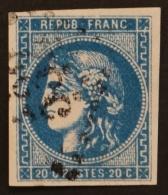 YT 46Bb Oblitéré GC 532 , Départ 0.01€ SANS PRIX DE RESERVE, 4 Marges , Cote 100 € - 1870 Uitgave Van Bordeaux