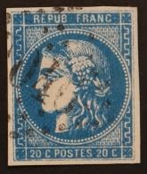 YT 46Ba Oblitéré GC 2040 , Départ 0.01€ SANS PRIX DE RESERVE, 4 Marges , Cote 75 € - 1870 Uitgave Van Bordeaux