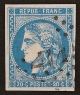 YT 46B Oblitéré GC 2145 , Départ 0.01€ SANS PRIX DE RESERVE, 4 Marges,  Cote 25 € - 1870 Uitgave Van Bordeaux