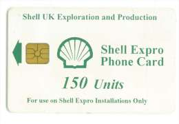 TELECARTE A PUCE SHELL UK 150 U PETROLE - Petrole