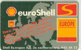 TELECARTE A PUCE BULGARIE SHELL 100 U PETROLE 10:2001 - Petrole