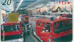 TELECARTE SUISSE POMPIERS 10:2002 - Pompiers