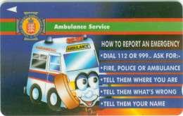 TELECARTE JERSEY POMPIERS AMBULANCE - Pompiers