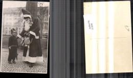215030,Foto Ak Nikolaus M. Kind Mädchen Puppe Weihnachtsmann - Cartoline