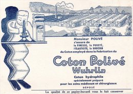 - BUVARD Coton Polivé WUHRLIN - 132 - Produits Pharmaceutiques
