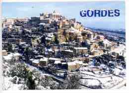Gordes : Le Village Sous La Neige - Vue Générale  N°L 146 - Gordes
