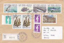 SAINT PIERRE ET MIQUELON Lettre Recommandée 1997 Bande Poissons - Non Classés