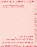 - BUVARD Librairie Joseph GIBERT - 145 - Cartoleria