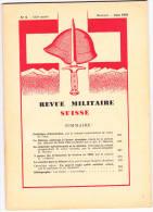 Revue Militaire Suisse Juin 1958 - Livres