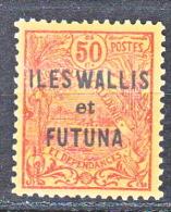 WALLIS  N� 13 NEUF (*) VARIETE A DE WALLIS ETROIT TTB