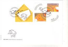 Folon-Mains-UPU-Suisse  1999-YT 1618/9-FDC - U.P.U.