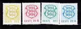 ESTONIE  1992 ARMOIRIES  190 A 192 MNH - Estonie