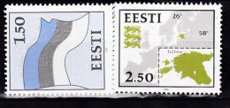 ESTONIE  1991 SYMBOLES NATIONAUX 188 189 MNH - Estonie