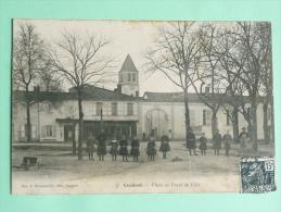 CAUDROT - Place Et Porte De La Ville - Otros Municipios