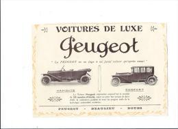 Publicité/Voitures De Luxe Peugeot/Beaulieu/Doubs/L´ Art Rustique En France /1913    ILL10 - Cars