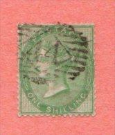 """GB SC #28 U  """"44"""" IN DIAMOND, CV $300.00 - Used Stamps"""