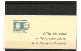 NOUVELLE CALÉDONIE Année 1992 P.A.  Carnet N°Y/T :C283** - Poste Aérienne