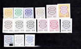 ESTONIE 1992 93 ARMOIRIES 197 A 201 206 A 209 217 A 219 225 - Estonie